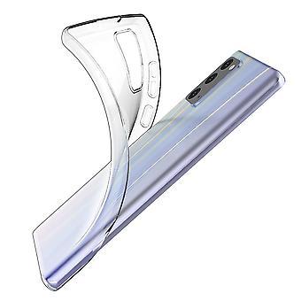Coque Pour Samsung Galaxy Note20, Housse De Protection En Silicone De Haute Qualité, Transparent