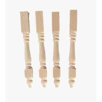 Dolls House Miniature Diy Fittings Spare Parts 4 Unfinished Furniture Legs