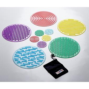 Tickit 54517 silishapes sensory circle set - set of 10 silicone circles for sensory exploration