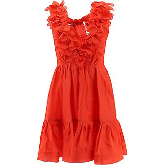 Zimmermann 9594dandr Women's Red Linen Dress