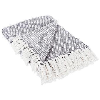 Dii grau gewebt werfen Decke