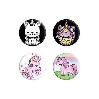 Grindstore I Believe Unicorns Badge Set (Pack de 4)
