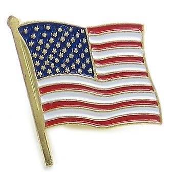 American Flag Base Metal Lapel Pin X 1 Brooches Brooch Pins - 3124
