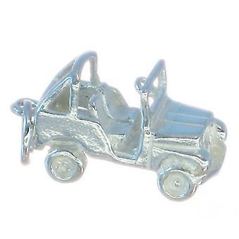 Jeep 4 X 4 Sterling Sølv Charm 0,925 X 1 Jeeps Biler Charms
