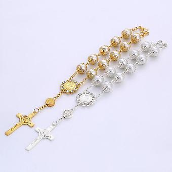 10pcs Catholic Glass Pearl Beads - Decade Rosary Pendent