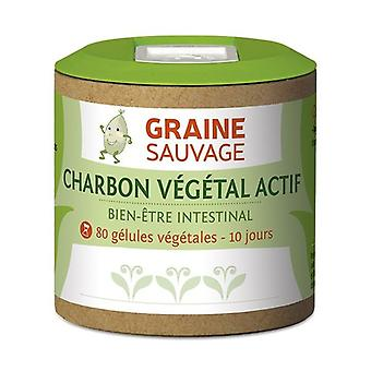 Active charcoal 80 vegetable capsules of 355mg