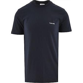 Calvin Klein Navy Cotton Chest Logo T-paita