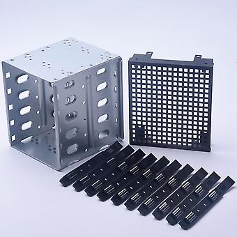For Computer Hard Drive Cage Sas Pc Supplies Rack Sata Stainless Steel With Fan