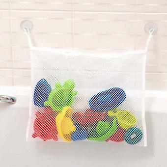 Baby Bath Toy Storage With Suckers Mesh Net Bag