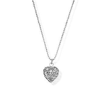 Cadena de corte de diamantes ChloBo con colgante de corazón de filigrana SCDC1050