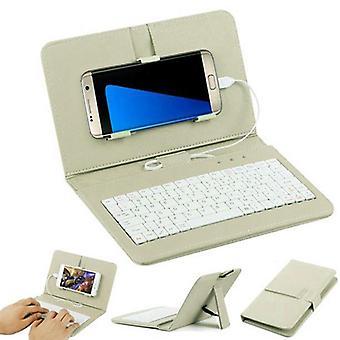 Tablet Keyboard General Wired Keyboard Flip Holster Case Cover