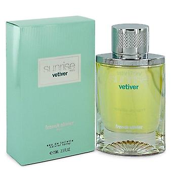 Sunrise Vetiver Eau De Toilette Spray By Franck Olivier 2.5 oz Eau De Toilette Spray