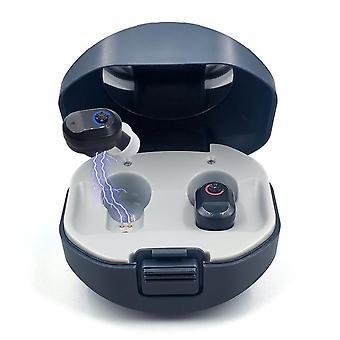 Pele branca/pele/pele preta um par de aparelhos auditivos digitais ciclo recarregável com amplificador de dispositivo auditivo caso de carregamento automático
