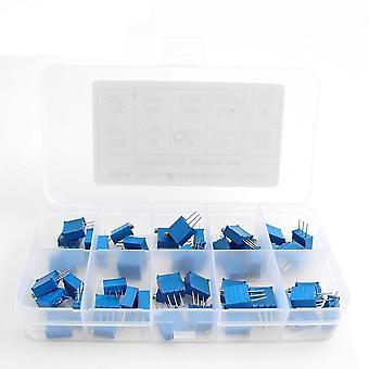 Série 3296w- 500r Multi-turn Potentiometer, 10k Resistors variáveis com caixa