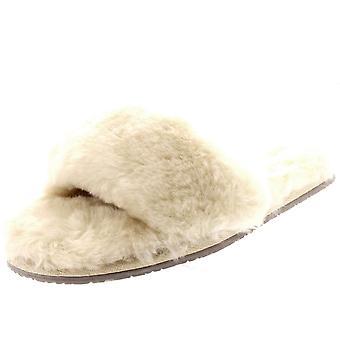 Womens Genuine Australian Sheepskin Mules Open Toe Fur Luxury Slippers UK 3-10