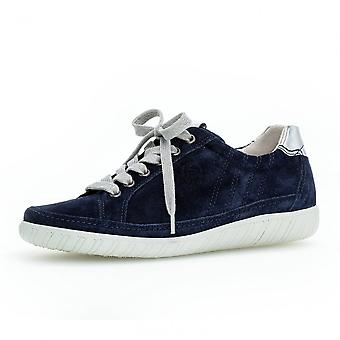 Gabor Amulet Womens Wide Fit Sporty Trainers In Navy Suede