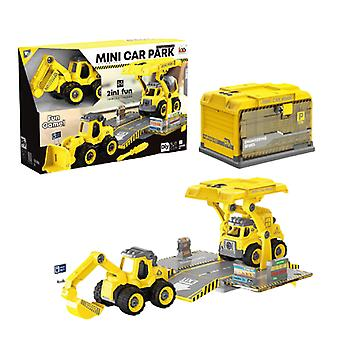 Children's disassembly and assembly of excavator toys