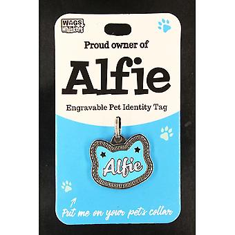 Wags & Whiskers Pet Cat Identity Tag - Alfie