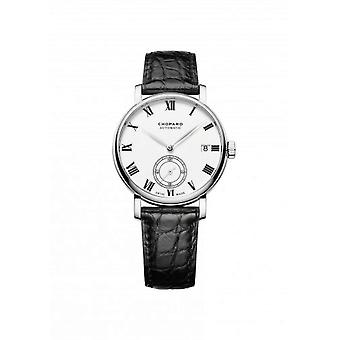 Chopard Classic Manufacture White Dial 18 Carat White Gold Automatic Men's Watch 161289-1001