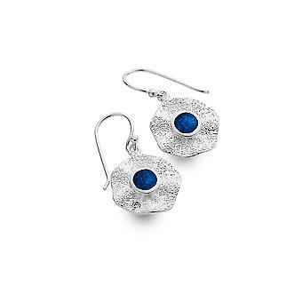 Sterling Silver Earrings - Origins Rock Pool + Lapis