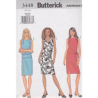 Butterick Fast & Easy Pattern 3448 Missaa top hameen koon 6-10
