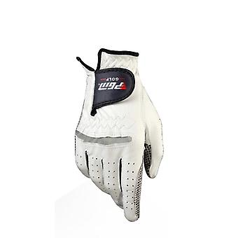 Genuine Leather Golf Gloves, Men's Left, Right Hand, Pure Sheepskin With