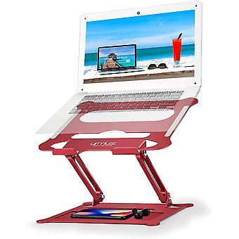 HanFei Laptop-Stnder, ergonomisch, verstellbar, Ultrabook-Stnder, tragbar, mit Mauspad, kompatibel