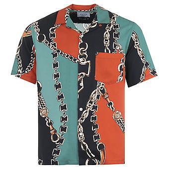 Portuguese Flannel Nautical 70s Short Sleeve Shirt - Multi Coloured