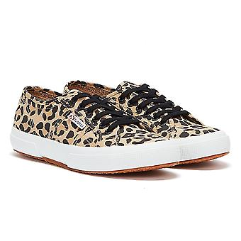 Superga 2750 Cotu Leopard Print Womens Brown / White Trainers