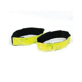 Optimum Sport Nitebrite High Visibility LED Adjustable Flashing Cycling Armbands