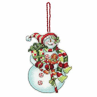 Dimensions Counted Cross Stitch: Ornament: Snowman with Sweets