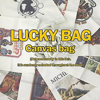 Vintage Mythical Sun Cartoon Printed Canvas College Shoulder Bags