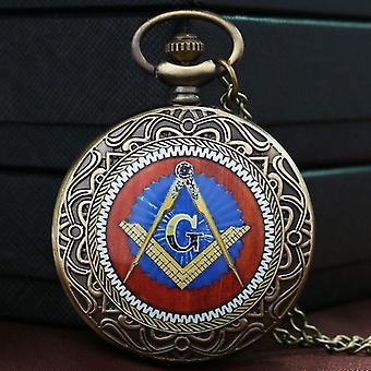 FreimaurerThema Bronze Taschenuhr