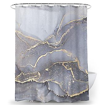 Marmor abstrakte Dusche Vorhang benutzerdefinierte Dusche Vorhänge Sanitär Eiter Vorhang (180 * 180)
