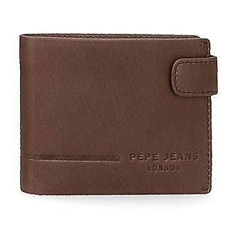 Pepe Jeans Ander Horizontal wallet with brown click closure 11x8.5x1 cms Leather(1)