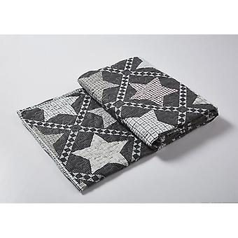 Spura Home Geometric Mountain Stars Transitional Quilted Throw