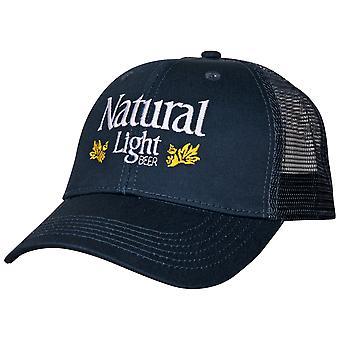Natural Light Beer Vintage Laakerit Säädettävä Snapback Hattu