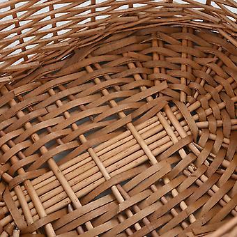 cesto in legno vidaXL con manico 58×42×29 cm Pascolo naturale