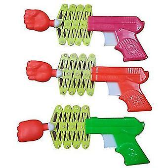 S 3pcs plastique élasticité télescopique pistolet poing attaque magic toy gun x695