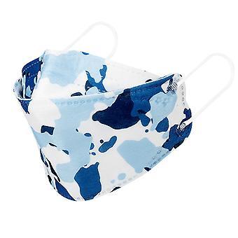 10kpl sininen naamiointi 4-kerroksinen Suojaava pajun muotoinen painettu naamio