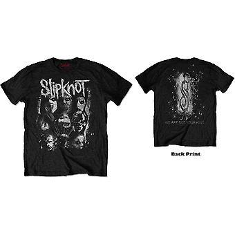 Slipknot - WANYK White Splatter Unisex Large T-Shirt - Nero