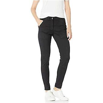 Brand - Daily Ritual Women's Stretch Twill High-Rise Ankle-Zip Utility Pant