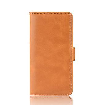 Phone case for motorola moto e 2020 back cover silicone case pu leather stand case
