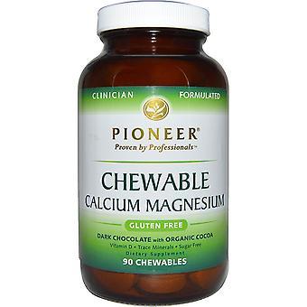 Pioneer Nutritional Formulas, Chewable Calcium Magnesium, Dark Chocolate with Or