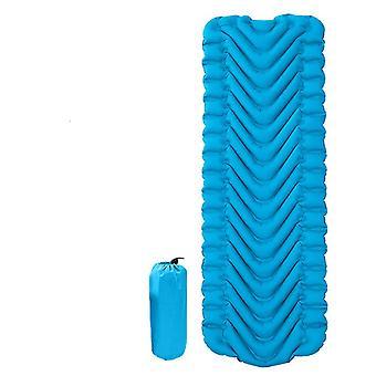 coussin de tente gonflable extérieur pliable, tapis anti-humidité pour travel camping (Royal Blue)
