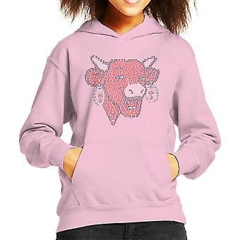 Den grinende ko La Vache Qui Rit Outline Kid's hætteklædte sweatshirt