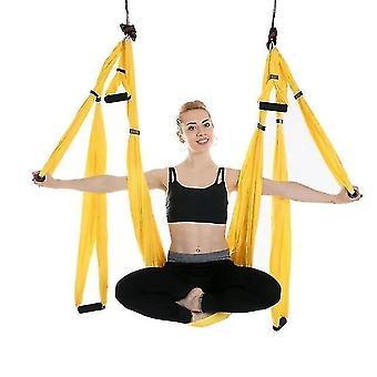 Aerial Yoga Hammock 6 Handles Strap Home Gym Hanging Belt Swing Anti-gravity Aerial Traction