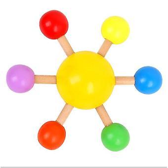 Kleurrijk spinnend hoogste onderwijsspeelgoed van kinderen, pret desktop decompressiespeelgoed (Geel)