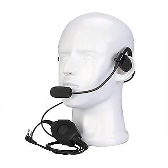 RETEVIS EHK006 2 Pin Behind-the-Head Earpiece Tactical Headset Boom Microphone with Rugged Remote PT