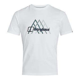 Berghaus Peak Fusion Grid Mens Short Sleeve Outdoor T-Shirt Tee White